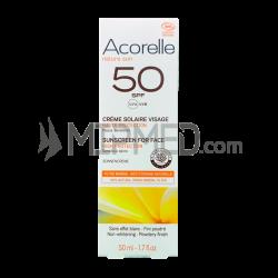 Acorelle Facial Sunscreen Cream - SPF50 - 50ml