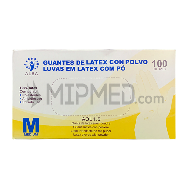 Latex Gloves - Powdered - 100 units