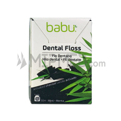 Babu Dental Floss - Activated Carbon with Mint Flavor - 50M