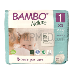 Diapers Bambo Nature - Size 1 -Newborn - 22 units