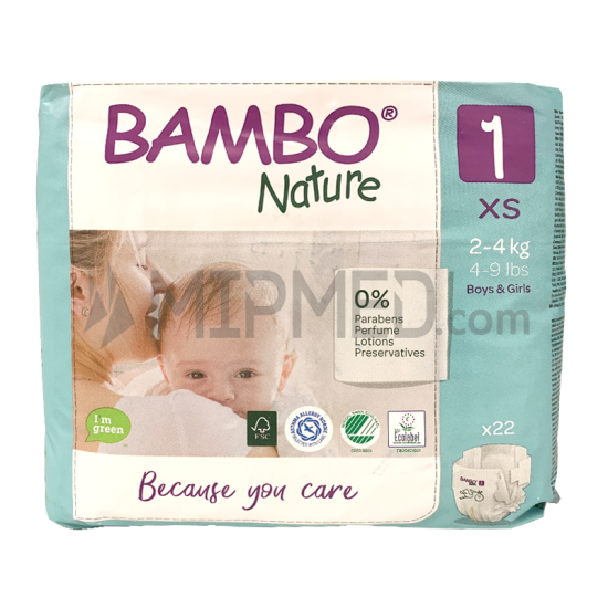 Diapers Bambo Nature - Size 1 -Newborn - 22 units
