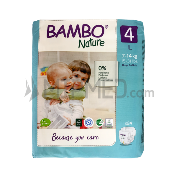 Diapers Bambo Nature - Size 4 -Maxi - 24 units