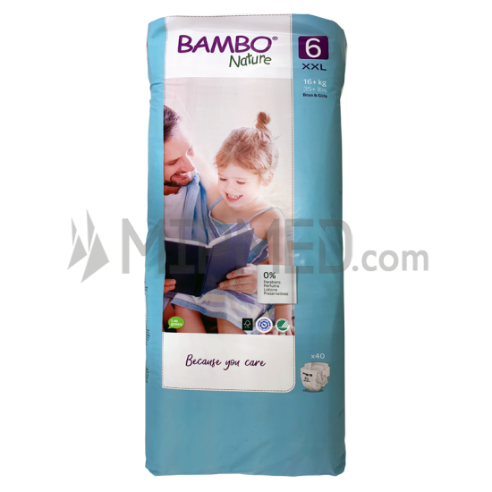 Diapers Bambo Nature - Size 6 -XL - 40 units