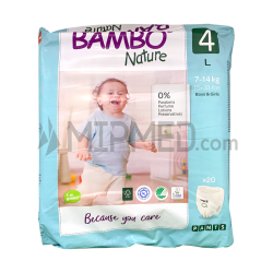 Bambo Nature Panties - Size 4 - Maxi - 20 units