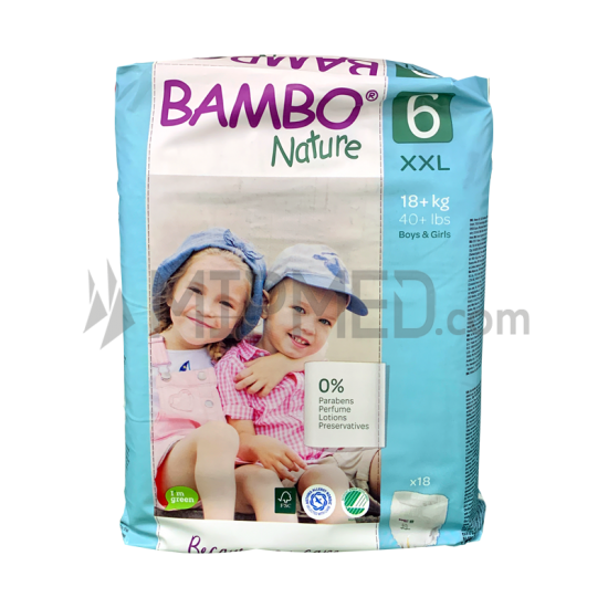 Bambo Nature Panties - Size 6 - Maxi - 18 units