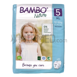 Diapers Bambo Nature - Size 5 -Junior - 22 units