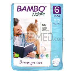 Diapers Bambo Nature - Size 6 -XL - 20 units