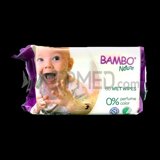 Bambo Nature Wet Wipes – 80 units