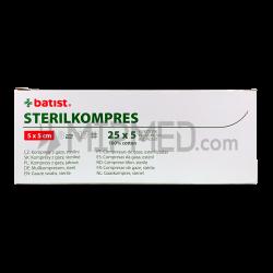 Sterilized Gauze Swabs - 5x5cm - 125 units