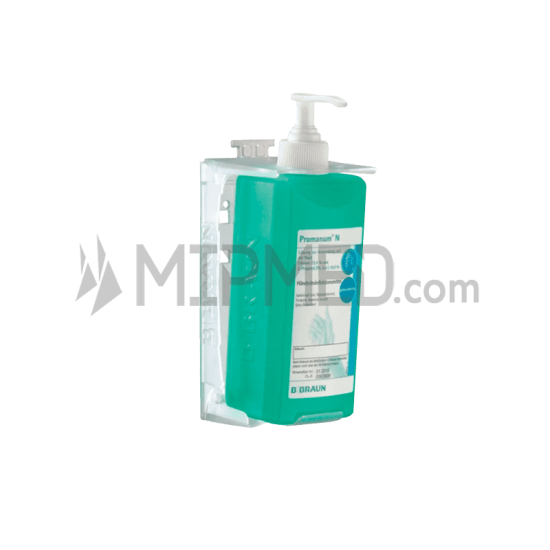 Transparent Wall Mount for Packaging of 500ml from B Braun