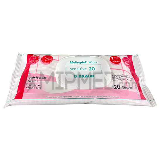 Meliseptol Sensitive Rapid Disinfectant - Wipes - 20 Units