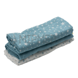 Cotton Diapers Mousseline - Pack Steel