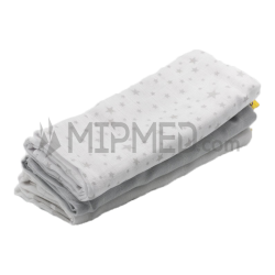 Cotton Diapers Mousseline - Grey Pack