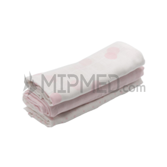 Cotton Diapers Mousseline - Pink Pack