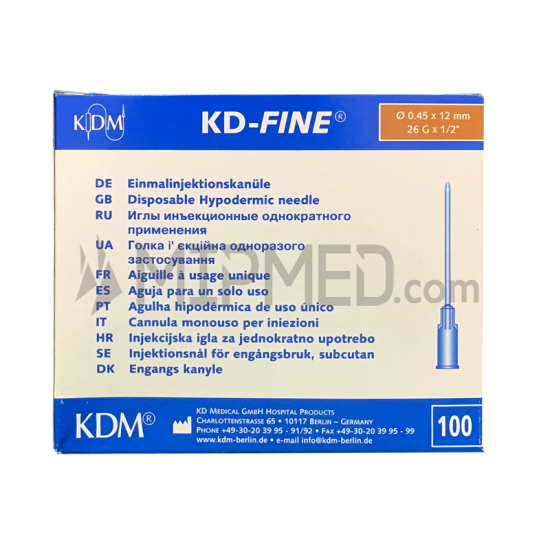 Needles  KD-Fine 26G 0,5 x 12mm