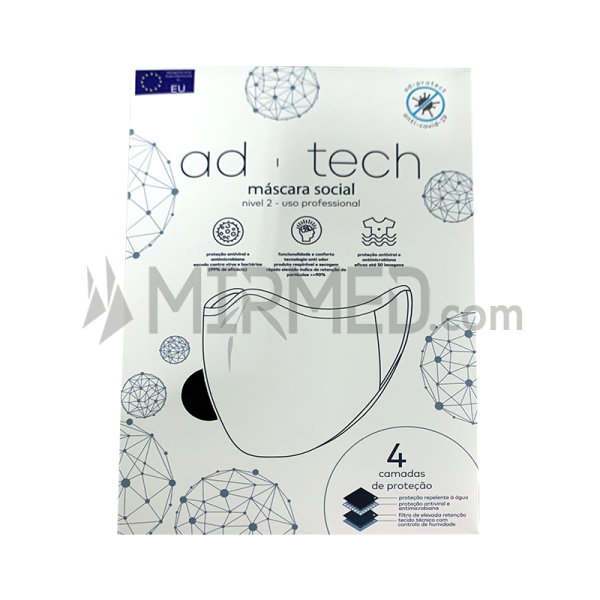 Reusable Mask - Anti Covid AD-Tech => 90% filtration (50 Washes)