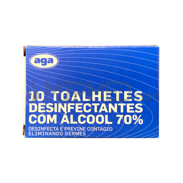 Disinfectant Wipe with 70º Alcohol Wipe - 10 Units