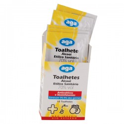 Disinfectant Wipes with 70º Alcohol Wipes - Box 10 Unites