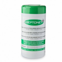 Aseptonet Disinfectant Wipes - Bottle - 100 units