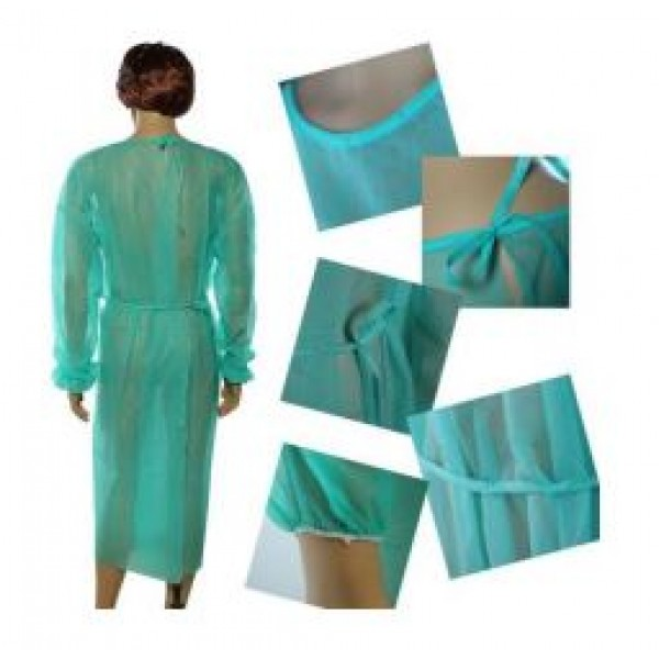 Green Disposable Gowns - 10 units