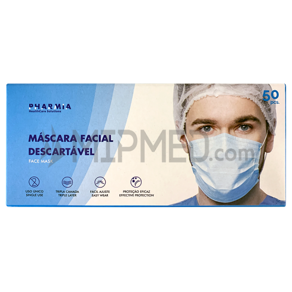 Disposable Triple Layer Social Masks Level 2 -> 90% - 50 units