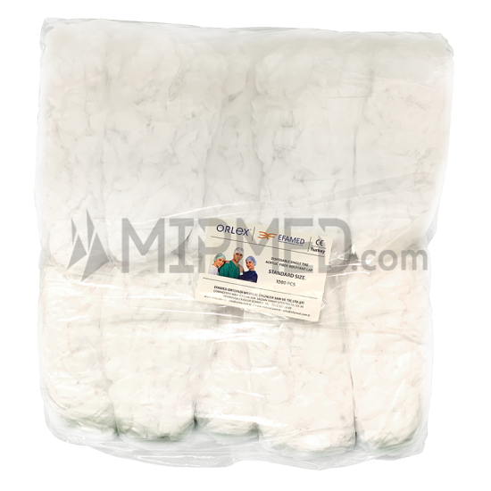 Non Woven Disposable White Bouffant Caps - 1000 units