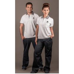 White Short Sleeve Polo Shirt (Ref. 216)