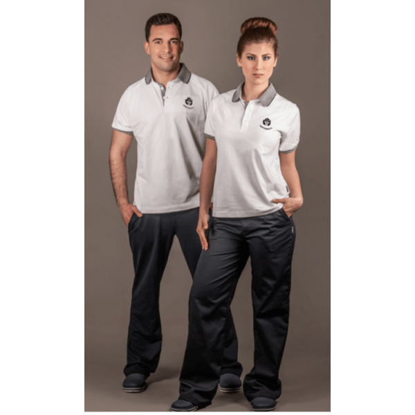 White Short Sleeve Polo Shirt (Ref. 216)