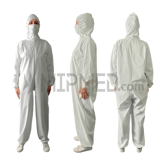 Waterproof Protective Suit in Technical Fabric with Hood