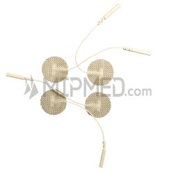 Adhesive Pre-Gelled Electrodes with Wire - 32mm - 4 units