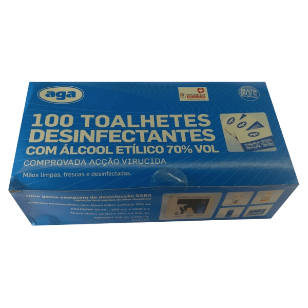 Disinfectant Wipes with 70º Alcohol Wipes - Box 100 Unites