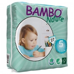 Diapers Bambo Nature - Size 5 -Junior - 27 units
