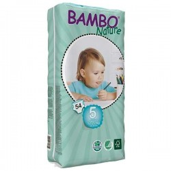 Diapers Bambo Nature - Size 5 -Junior - 54 units