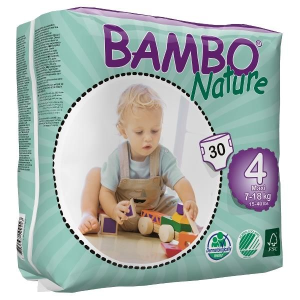 Diapers Bambo Nature - Size 4 -Maxi - 30 units