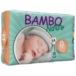 Diapers Bambo Nature - Size 0 - Premature Baby - 24 units