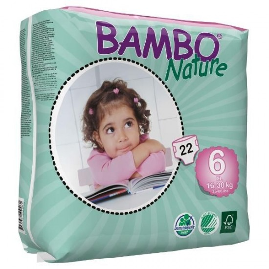 Diapers Bambo Nature - Size 6 -XL - 22 units