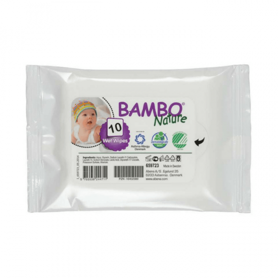 Bambo Nature Wet Wipes – 10 units