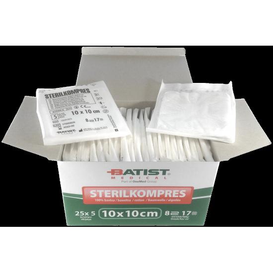 Sterilized Gauze Swabs - 10x10cm - 125 units
