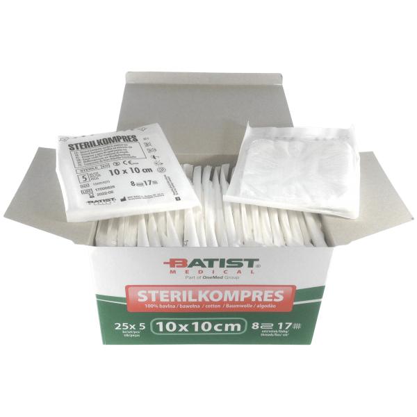 Sterilized Gauze Swabs - 10x10cm - 125 units
