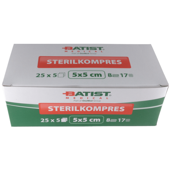 Sterilized Gauze Swabs - 5x5cm - 125 units