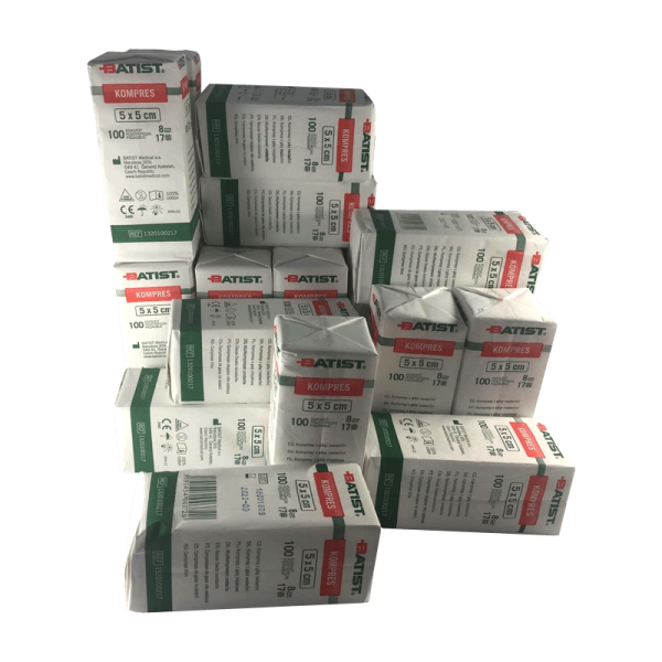 Box of 50 Gauze Swabs - 5x5cm - 100 units