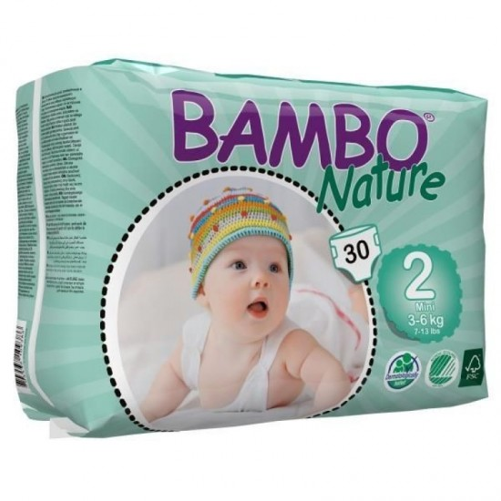Diapers Bambo Nature - Size 2 -Mini - 30 units