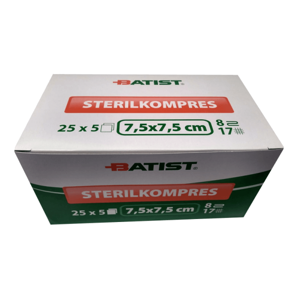 Sterilized Gauze Swabs - 7,5x7,5cm - 125 units