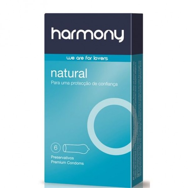 Harmony Natural Condoms - 6 Units