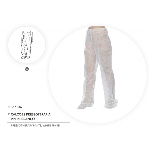 Pressotherapy Pants in White in PP+PE - 10 units