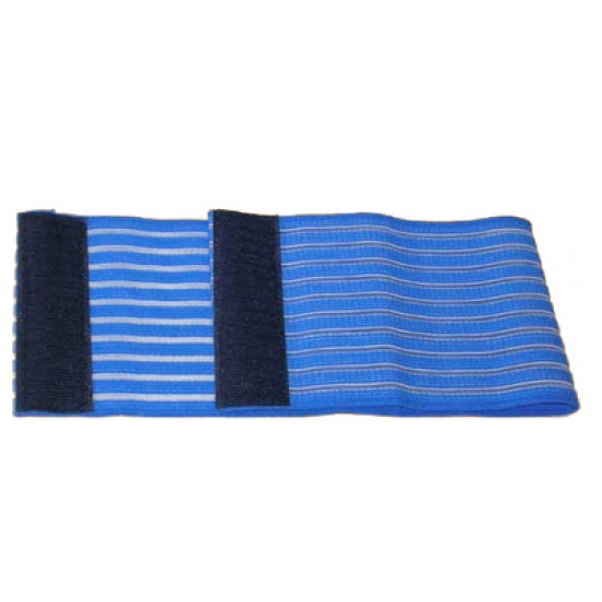 Blue Elastic Strap with Velcro - 10x100cm