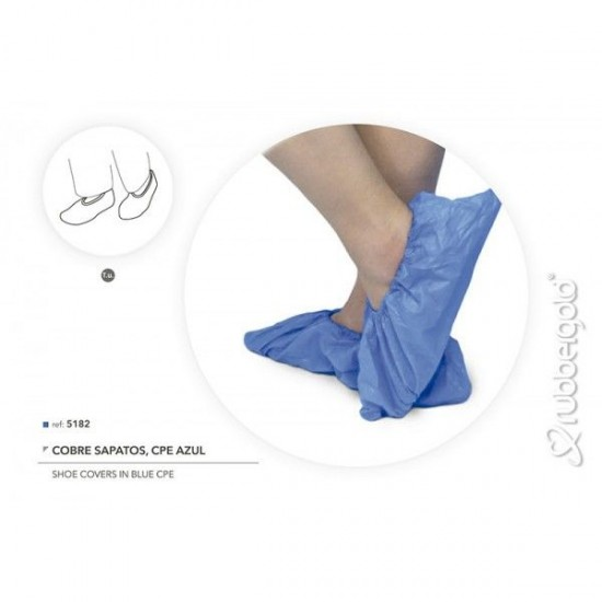 Blue Disposable Shoe Cover in CPE - 100 units