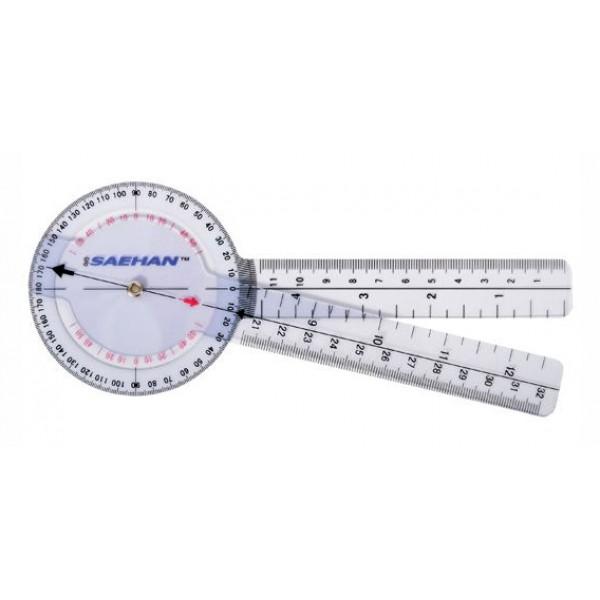 Plastic Goniometer - 20 cm - 0° to 360° per 1°