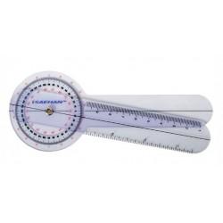 Plastic Goniometer - 15 cm - 0° to 360° per 1°