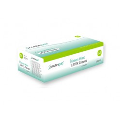 Latex Gloves - Mint - Powder-Free - 100 units